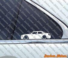 2X Lowered car outline stickers - for Chrysler 300c / 300 C Hemi sedan