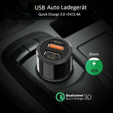 Mini QC3.0 Auto Ladegerät USB KFZ Zigarettenanzünder Steckdose +iPhone Ladekabel