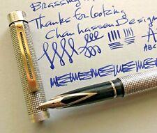 Vintage, Sheaffer, Targa, Fountain Pen 14k Gold Medium Nib, Silver Plated Casing