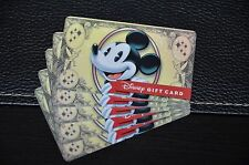 NEW 2016 Disney Dollar Gift Card Mickey Mouse Tinker Bell Money Zero Balance