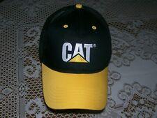 CAT Caterpillar Equipment Trucker Hat Official Lic. Black/Yellow Twill Meshback