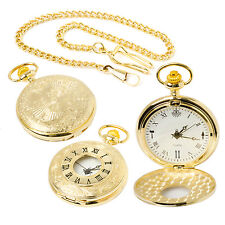 Stunning Brand New Masonic Quartz Half Hunter Pocket Watch at Reduced Price