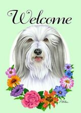 Outdoor Garden Flag Bearded Collie Dog Breed Welcome Small Garden Flag Usa