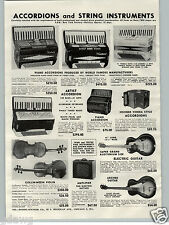 1955 PAPER AD Collin Mezin Vuillaume Model Violin Lamy Bow Hohner Accordion