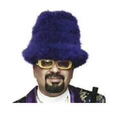 Purple Marabou Feather Foam Costume Top Hat