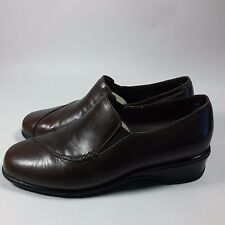 Women's Munro American Shoes Comfort Heels Pumps Brown Leather-6.5 W