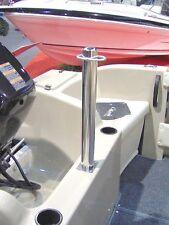 Tenob Double Water Ski Pole, Thru-Deck Mount Stainless Steel Heavy Duty RWB5193