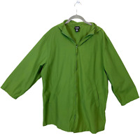 Eileen Fisher Vintage Cotton Blend Zip Up Jacket sz M