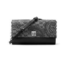Michael Kors Studio Paisley Natalie XL China Black Wallet Clutch Crossbody