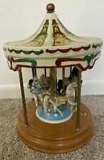 Tobin Fraley Willitts Limited Edition Horse Carousel Merry Go Round Musical