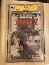 Trinity #11 CGC 9.8 SS Signed Bill Sienkiewicz Sketch DC 2016