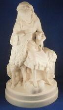 Rare 19thC American Parian Porcelain Girl & Dog Figurine Figure America USA US