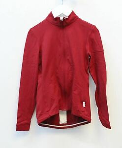 RAPHA Ladies Long Sleeve Souplesse Cycling Jersey Red White XXS NEW RRP130