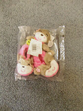 Baby Girls Booties & Rattle Set - Pink & Gray Polyester Slip-On - Size 0 to 6