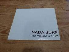 NADA SURF - THE WEIGHT IS A GIFT!!!!!!!!!!! RARE CD PROMO!!!!!!