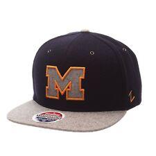 NCAA Michigan Wolverines Executive Snapback Ajustable  Hat Navy