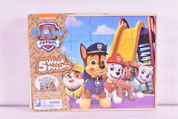 Nickelodeon Paw Patrol with 5 Wood Jigsaw Puzzles in wood  Storage Box