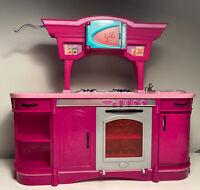 Barbie Doll 2008 Glam Kitcen Dream House Pink Furniture Stove Sink n4893 Part