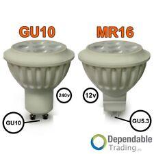 4.5w= 35w 6w=50w Lumière jour Blanc Chaud ampoules LED Lampes Spot GU10 MR16