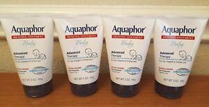Lot of 4 Aquaphor Baby Healing Ointment Advanced Therapy Diaper Rash 3oz Tube