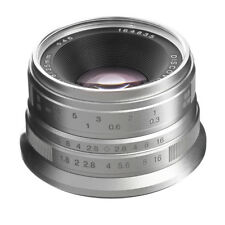 25mm F/1.8 Prime Lens Manual Focus MF For Panasonic Olympus M4/3 Mount Silver