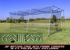 Cimarron Sports #24 30x12x10 Baseball Softball Batting Cage and Frame Corners