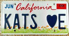 TARGA CALIFORNIA Originale TARGHE auto AMERICANE USA cuore TUNING Los Angeles