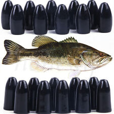 1.8�ž21g Tungsten Worm Flipping Weight Black Bullet Bass Fishing Sinker Tackle