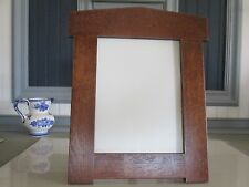 "Arts & Crafts Mission Style 8"" X 10"" Arched Picture Frame White Oak Handcrafted"