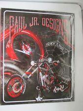 """BLACK WIDOW MOTORCYCLE METAL SIGN PAUL JR. DESIGNS 12""""w x 15""""h BRAND NEW SEALED"""