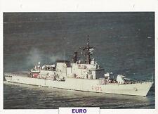 NAVIRES DE GUERRE - FREGATE EURO - ITALIE - 1983 FICHE / FEUILLE CLASSEUR