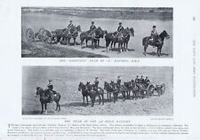 Royal Horse Artillery dans le domaine-Tirage photographique ANTIQUE 1896