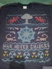 "New Fallout 4 Ugly-Christmas-Style Vault Sweater ""War Never Changes"" sz Adult S"