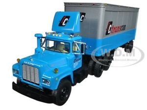 MACK R MODEL WITH 28' PUP TRAILER TC TRANSCON 1/64 DIECAST BY FIRST GEAR 60-0341