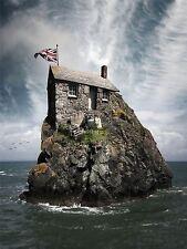 Impresión arte cartel Foto Crazy House isla rocosa ovejas lfmp0489