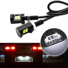 2x White 5730-SMD Bolt-On LED License Plate Light For Car or Motorcycle ATV Bike