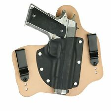 "FoxX Leather & Kydex IWB Hybrid Holster Colt 1911 5"" Government -no rail Natural"