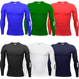 ATAK Youths Junior Long Sleeve Sports Running Base Layer Compression Shirt Top