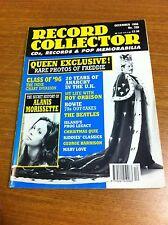 QUEEN FREDDIE MERCURY COVER RECORD COLLECTOR MUSIC MAGAZINE DECEMBER 1996 NO 208