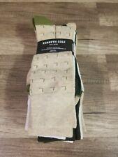 Kenneth Cole New York Dress Socks, Men's Green/Tan/White 6 Pair Size 6-12 New