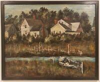 "Oil Painting on Artist Board Landscape Signed Framed Art  (17"" x 21"")"