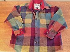 Rugged Heavy and Warm Gap Wool Blend Bold Plaid Boys' Shirt Jacket size S Mint