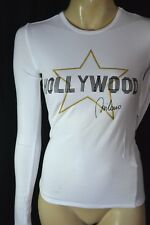 Hollywood Milano T-SHIRT LONG SLEEVES manica lunga bianco 36 38 M nuovo 87 € NEW TAG
