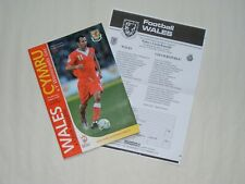 RYAN GIGGS WALES & MANCHESTER UNITED - FAW FOOTBALL LAST WELSH GAME PROGRAMME