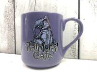 Rainforest Cafe Downtown Disney Purple Tuki Mug Good Used Condition
