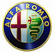 ALFA ROMEO 33 ALFA 75 FREGIO SIGLA STEMMA SU MASCHERINA ANT.BADGE EMBLEM 75MM