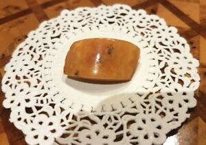 Baltic amber vintage brooch