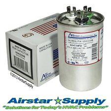 60 + 5 uF MFD Round Dual Run Capacitor  AmRad 370 / 440 VAC - USA Made