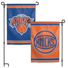 """NEW YORK KNICKS 2 SIDED 12""""X18"""" GARDEN FLAG NEW & OFFICIALLY LICENSED"""