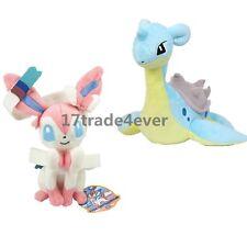 Pokemon Center Lapras & Eevee Sylveon Soft Plush Doll Toy 2pcs